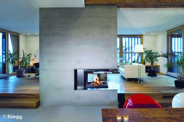Cheminée RÜEGG : Pi-ccolo Compact | fireplace in the living room ...