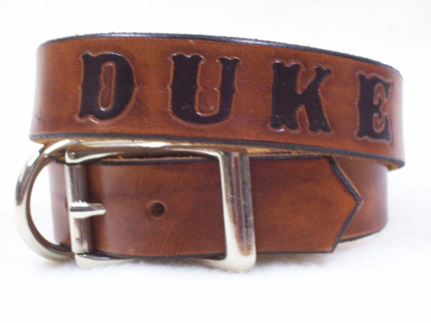 For boone dog leather dog collar personalized with your dogs name