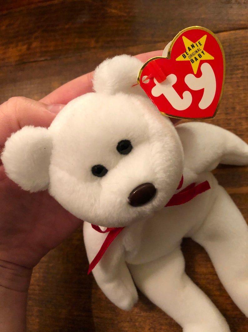 RARE Valentino Beanie Baby Bear / 19931994 / Brown Nose