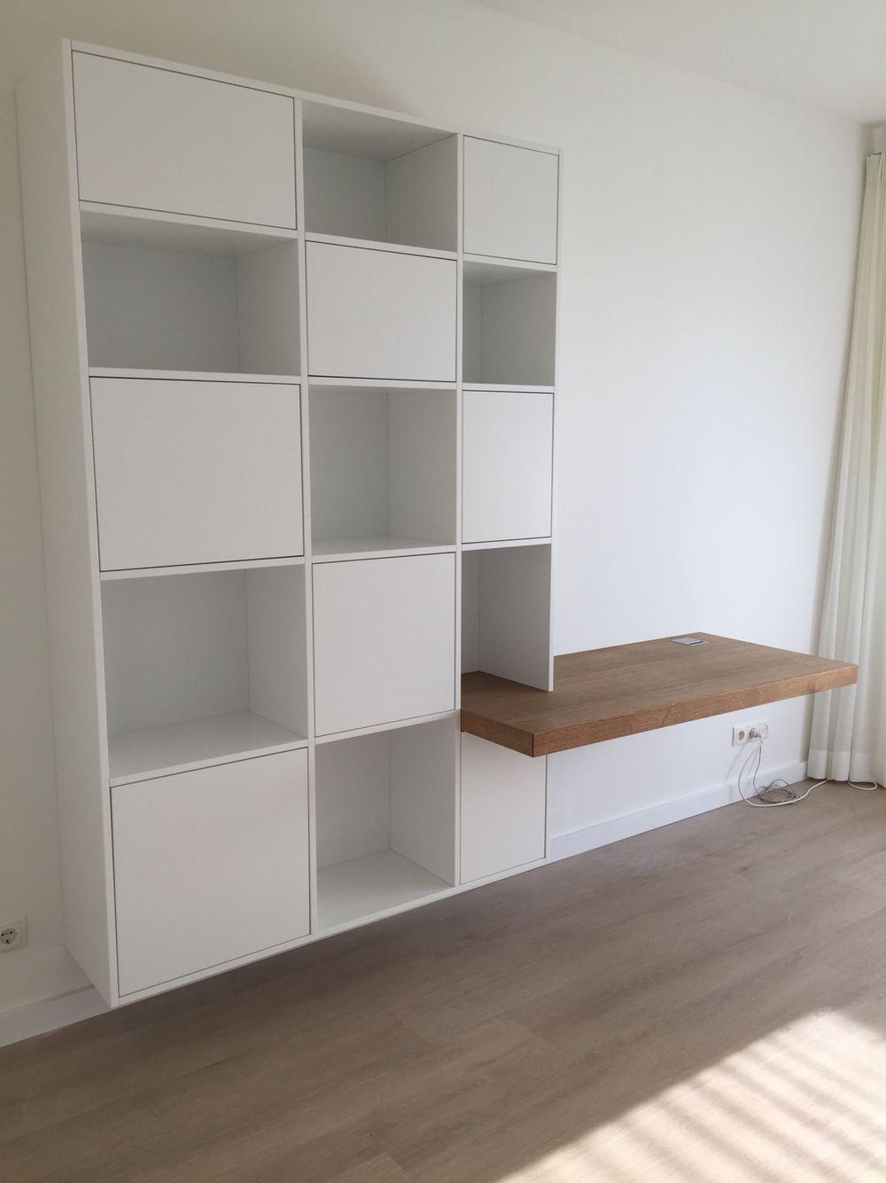 Wandmeubel  bureau  Furniture ideas in 2019  Woonkamer