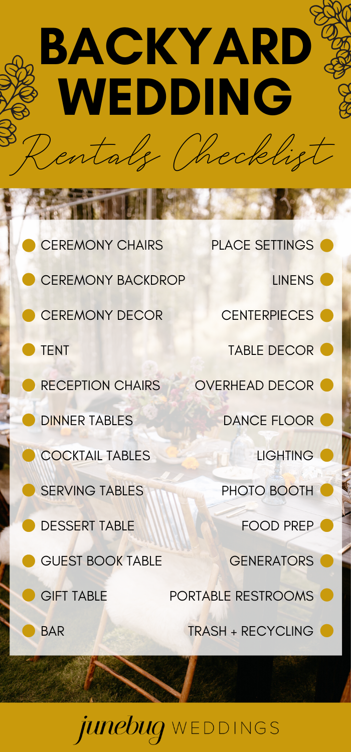 The Ultimate Guide to Planning a Backyard Wedding ...