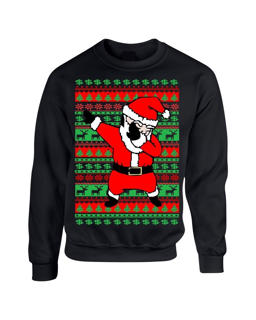 caadf462 Dabbing santa ugly christmas sweater women sweatshirt Merry christmas gift Santa  Claus doing the dab dance