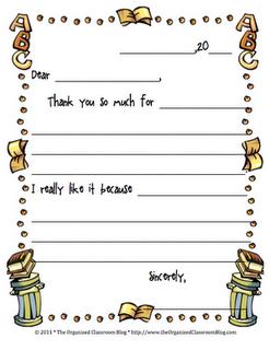 Just Saying Thanks | Classroom Freebies! | Classroom freebies