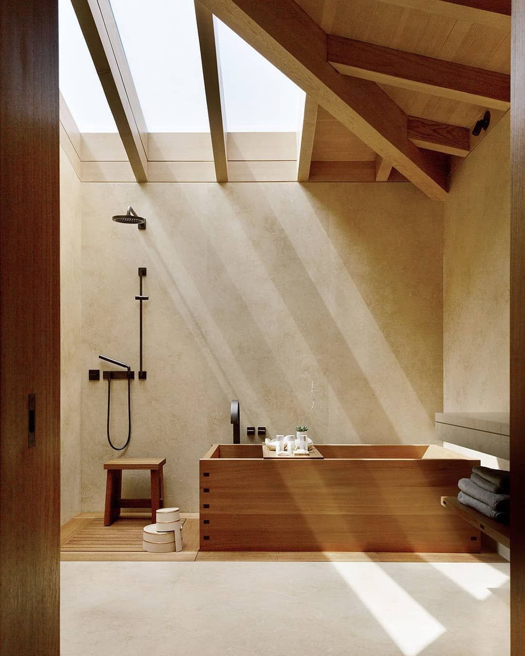 """Photo of 31 Chapel Lane on Instagram: """"Japanese wooden soaking tub 🛀 Nobu Ryokan, Carbon Beach, Malibu CA, by Montalba Architects and Studio PCH, completed 2017"""""""