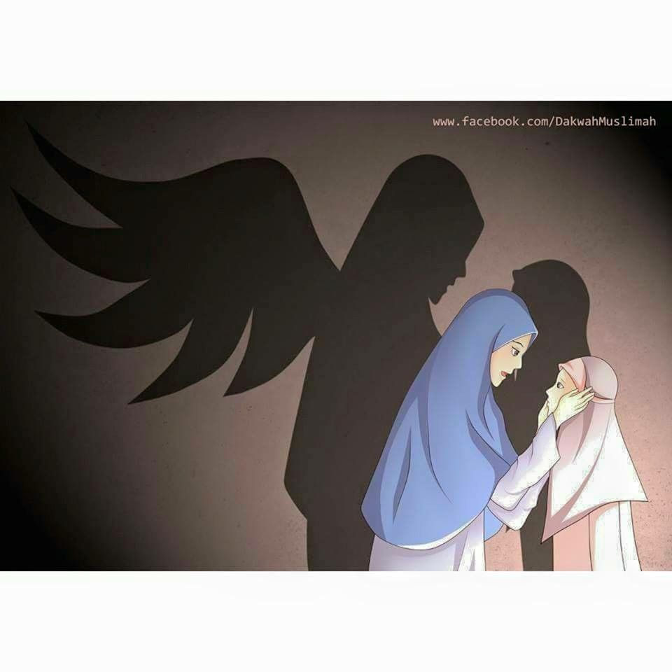 Mother And Daughter Muslimah Anime Islam Muslim Muslimah