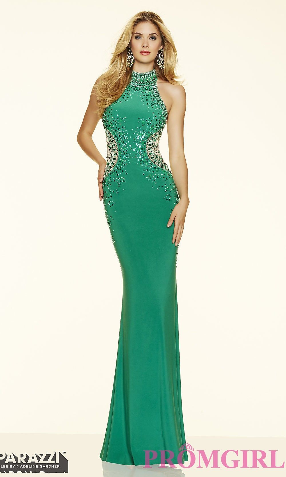 High Neck Long Jersey Prom Dress by Mori Lee 💟$389.99 from http ...