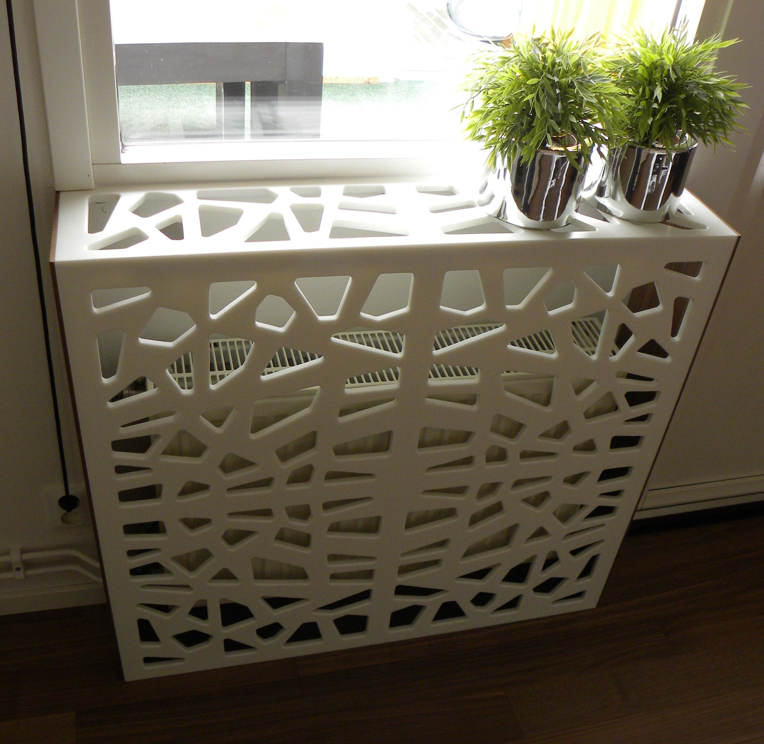 Corian cover for radiator! There are so many amazing things you can create  with corian