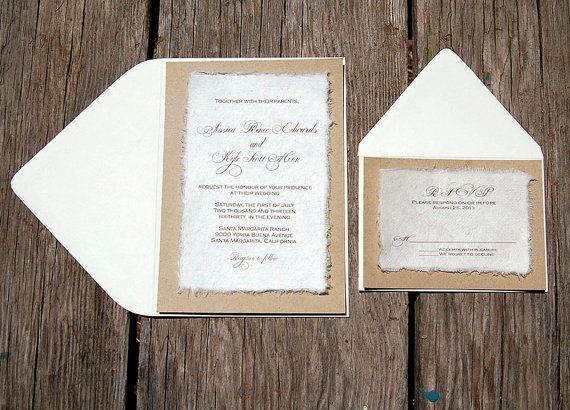 Diy Simple Rustic Cardstock Wedding Invitations By Invitations By