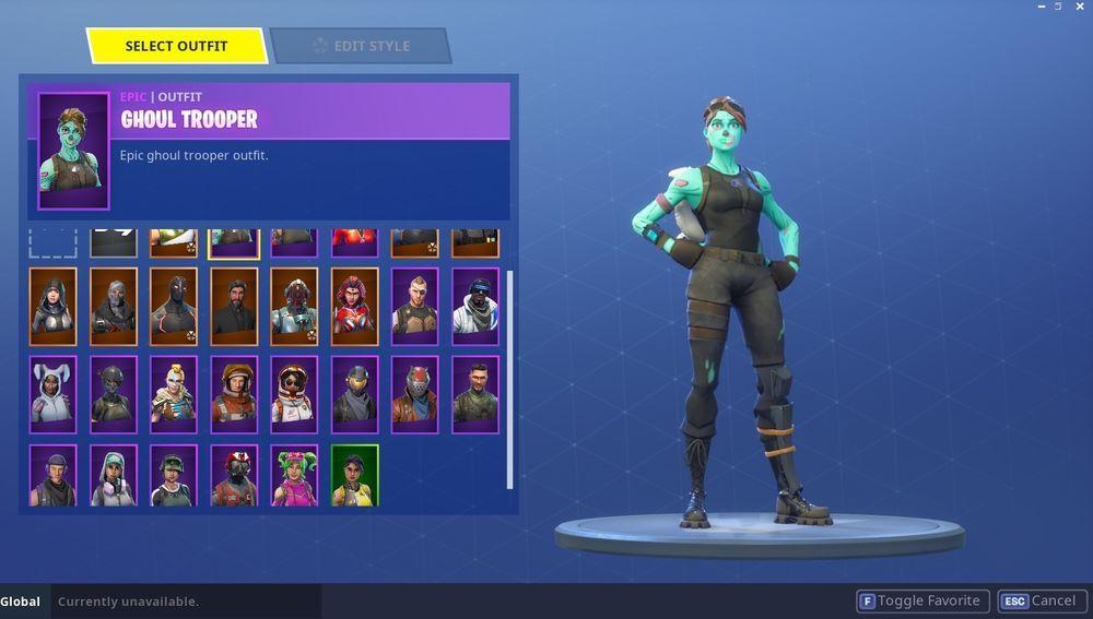 Fortnite Account Ghoul Trooper Ghoul Trooper Accounting