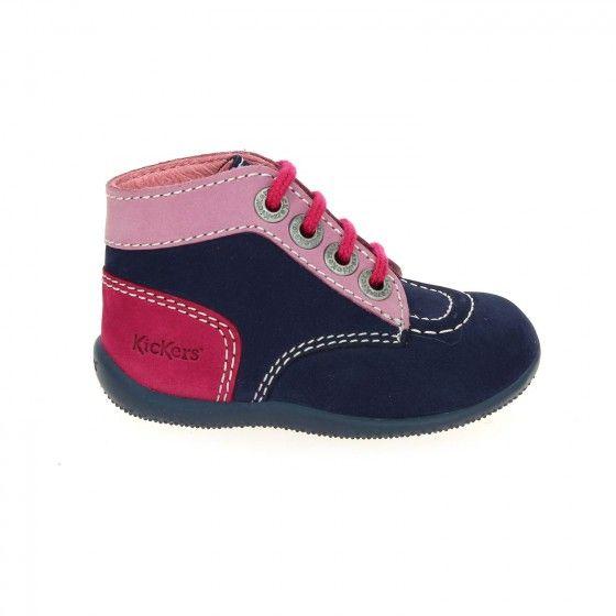 Chaussures Kickers Bonbon roses pour bébé  Multicolore (Bianco+Tomato 0001) w3HEx0kW