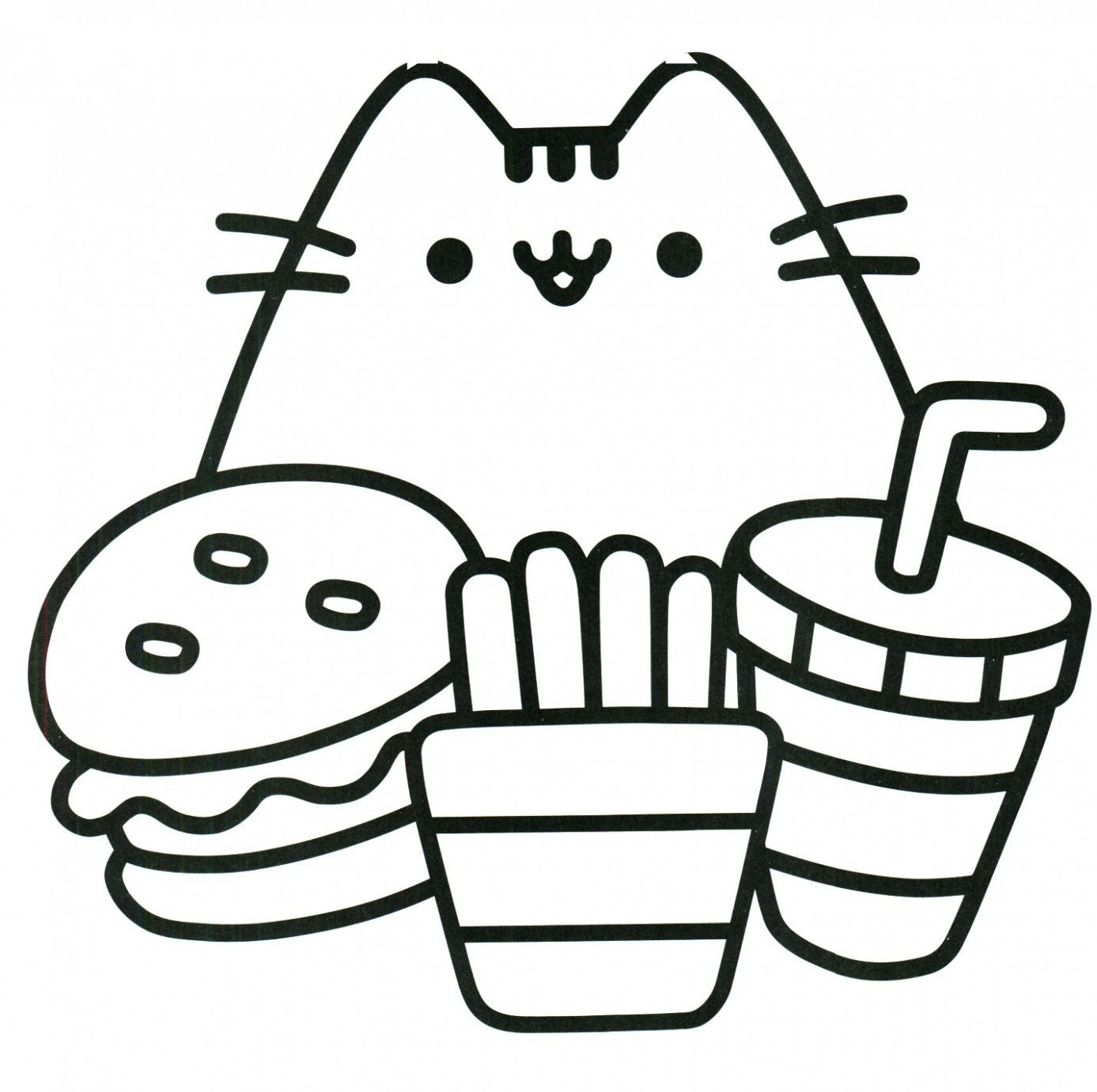 6 Free Printable Cute Coloring Pages In 2020 Pusheen Coloring Pages Hello Kitty Colouring Pages Kids Printable Coloring Pages
