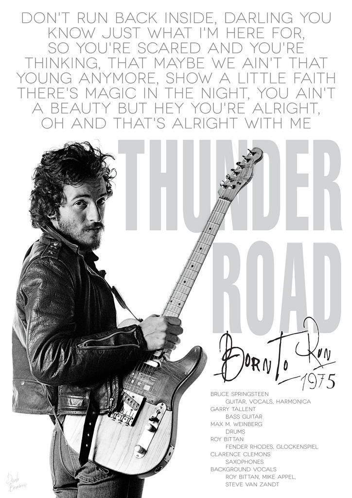 Bruce Springsteen Thunder road poster by DanieleBenedetti on DeviantArt