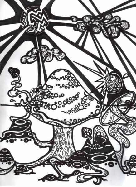 trippy coloring pages page from my coloring book by razorblade butterfly - Trippy Coloring Books