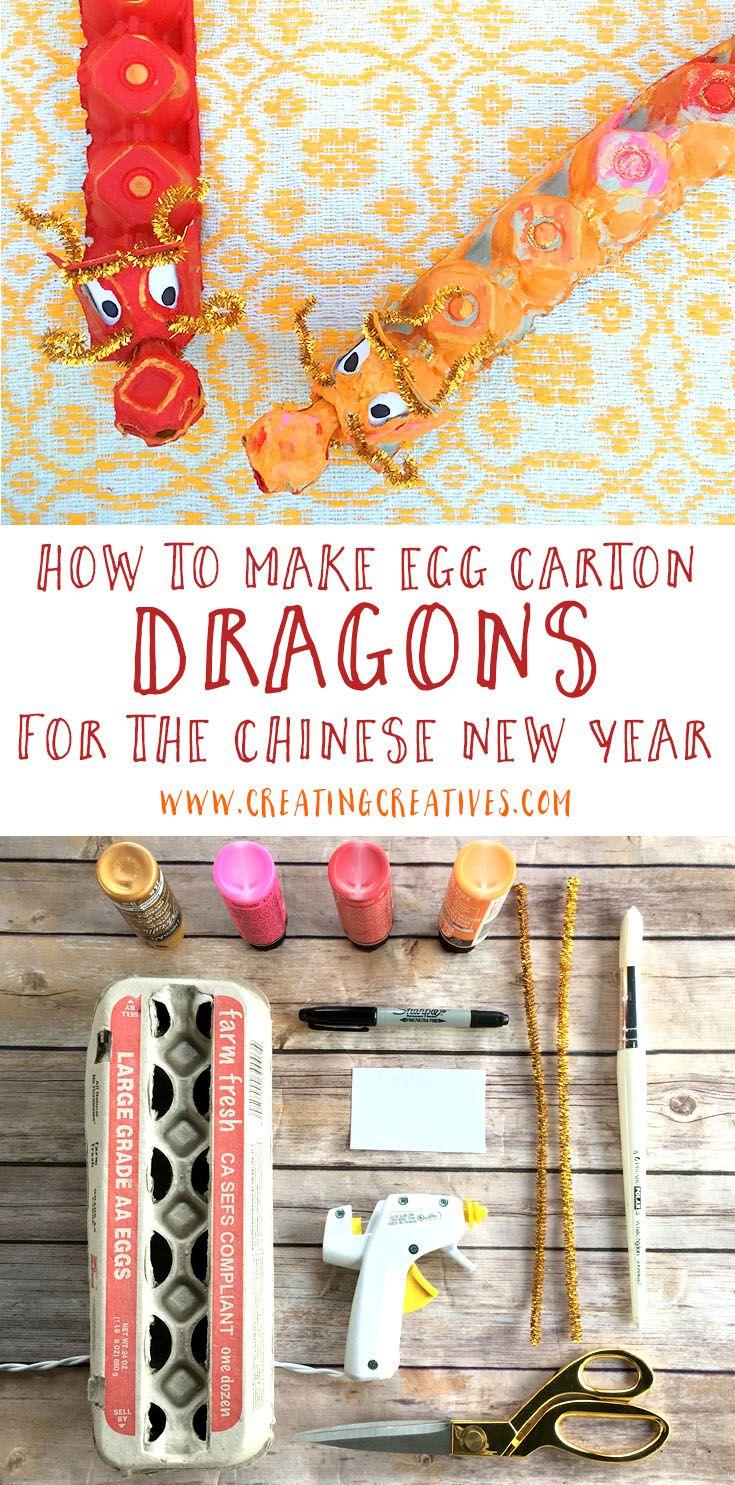 Chinese New Year Craft - Egg Carton Dragon - Creating Creatives