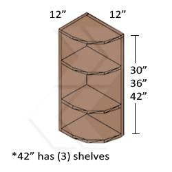 kitchen wall cabinet end shelf - kitchen design ideas
