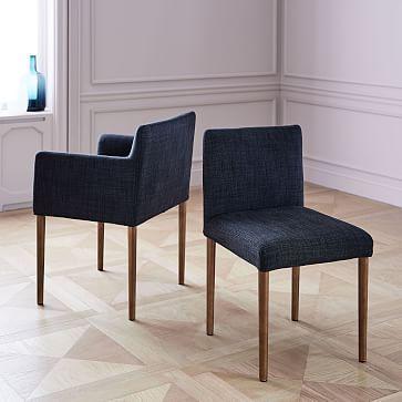 Ellis Dining Chair #westelm & Ellis Side Chair Twill Wheat | Dining Dining chairs and Side chair