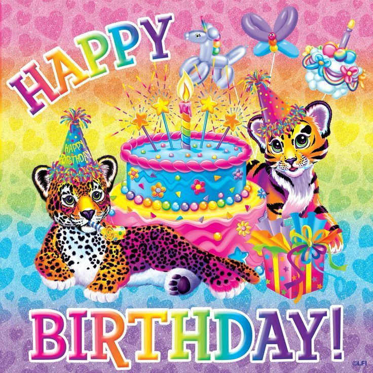 Lisa Frank Free Printable Birthday Poster Card With Images