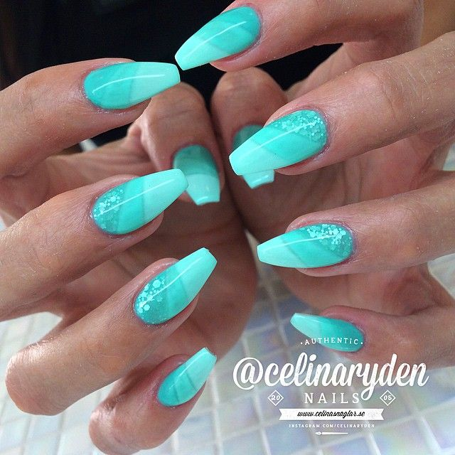 Tiffany Blue Ballerina Nails Funky Cute Pretty My