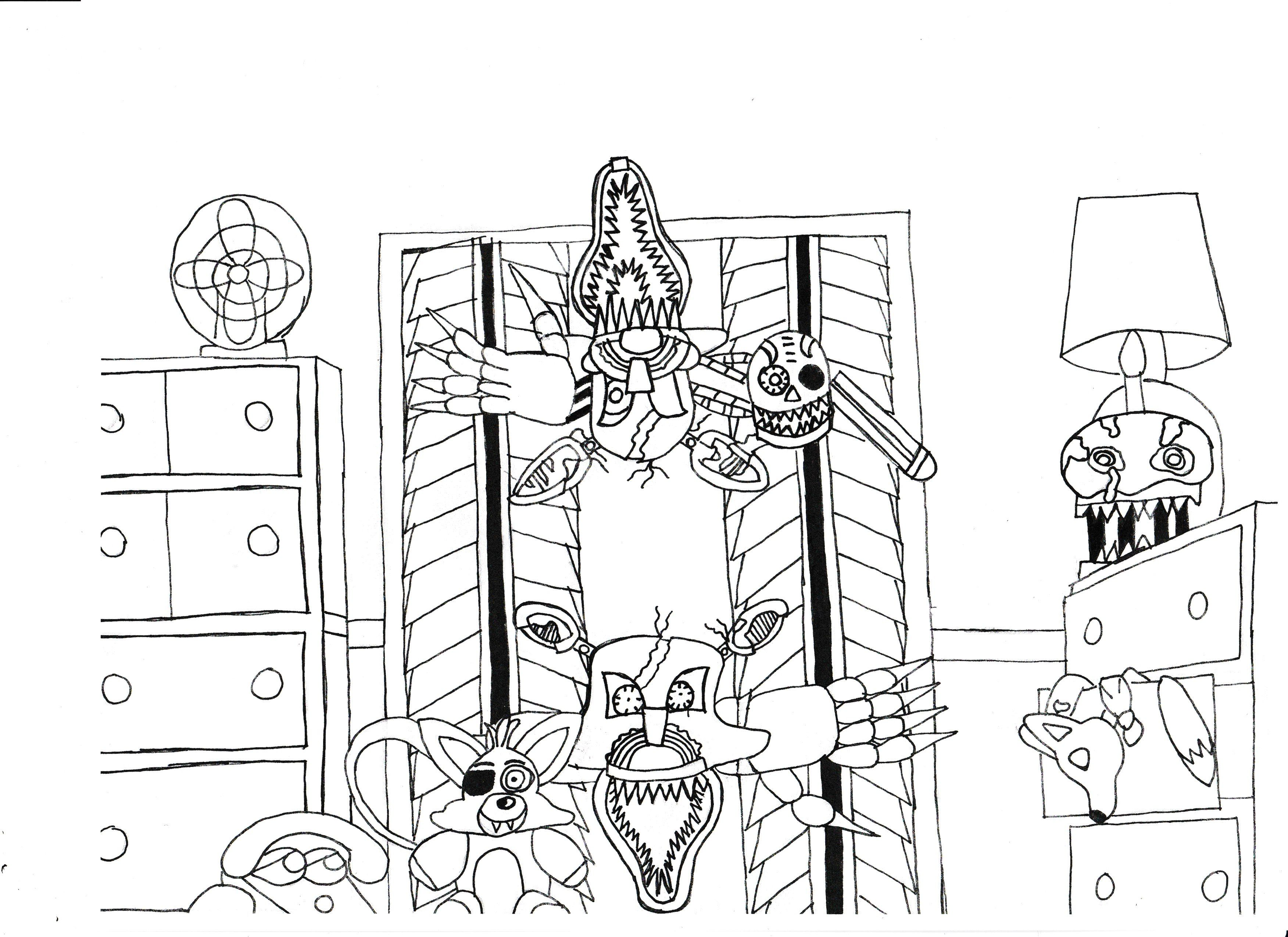Fnaf 4 drawing | My drawings, Drawings, Decor