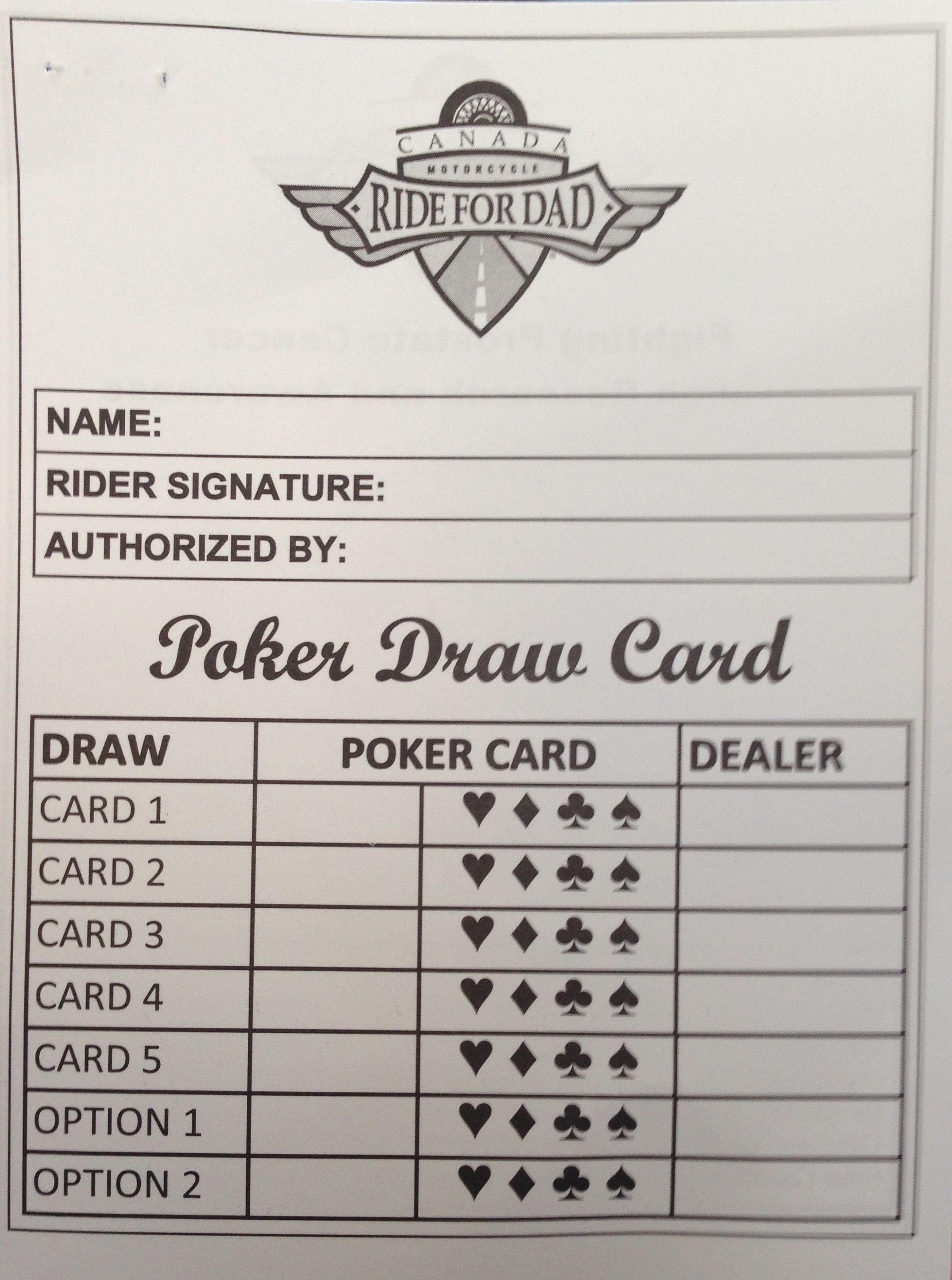 Poker run card