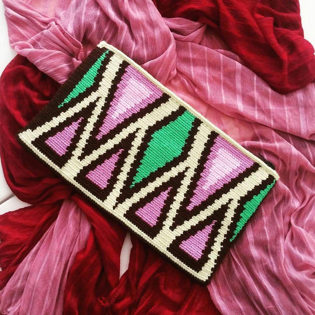 Kahverengi wayuu çanta | rengarenk_tasarimlar_simge | Pinterest