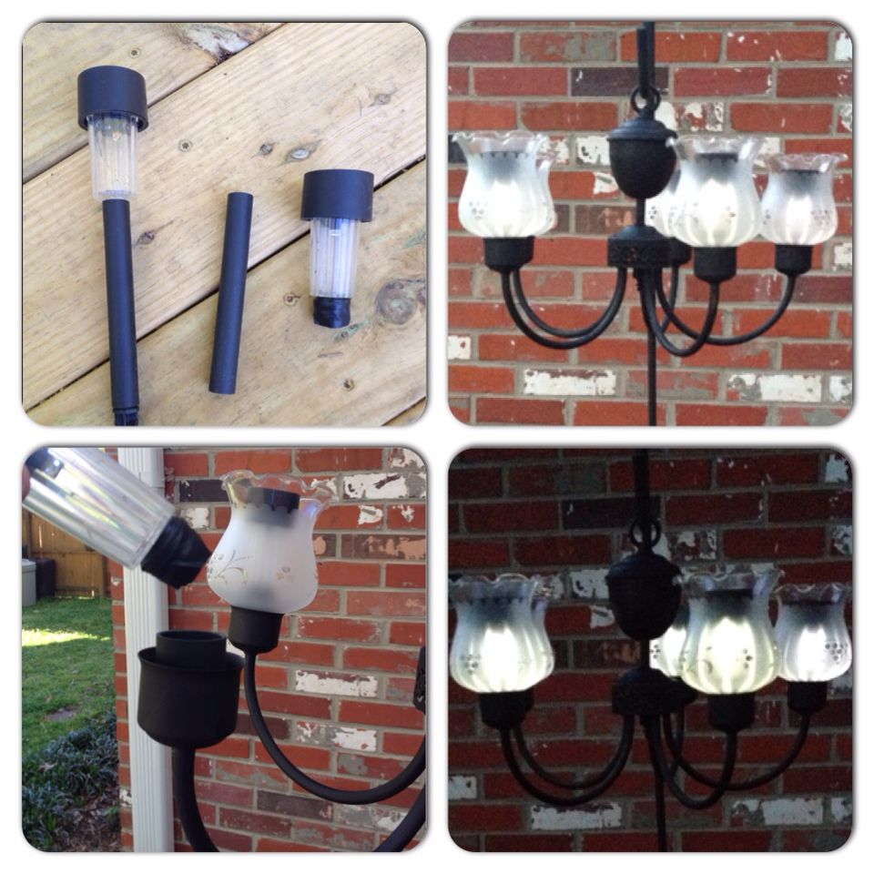 Repurposed dining room chandelier to an outdoor solar light repurposed dining room chandelier to an outdoor solar light chandelier i replaced my dining room arubaitofo Choice Image