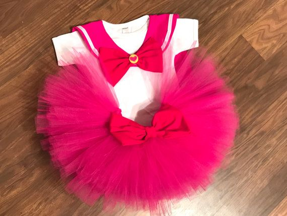 """/""""Sailor Moon/"""" Personalized White or Pink T-Shirt and Pink Tutu Set NEW"""