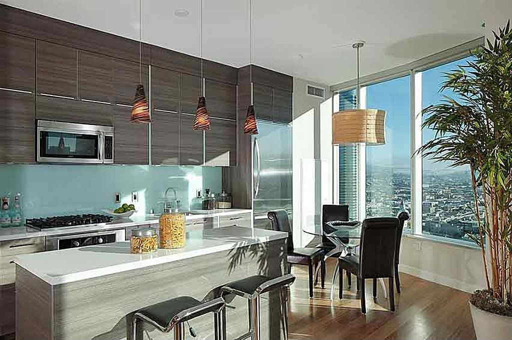 contemporary  contemporary kitchen home hardwood floors