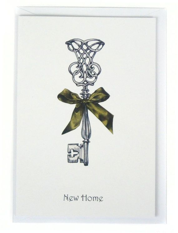 Clearance Sale New Home Card Vintage Key Hand Drawn Etsy Housewarming Card Cards Handmade Card Craft