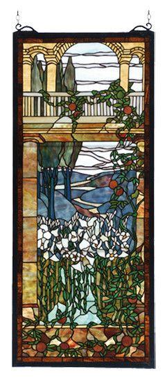 Meyda Tiffany Victorian Peace Balcony Stained Gl Window Reviews Wayfair