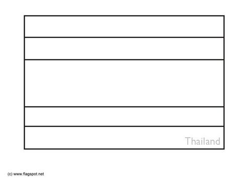 Coloring Page Flag Thailand