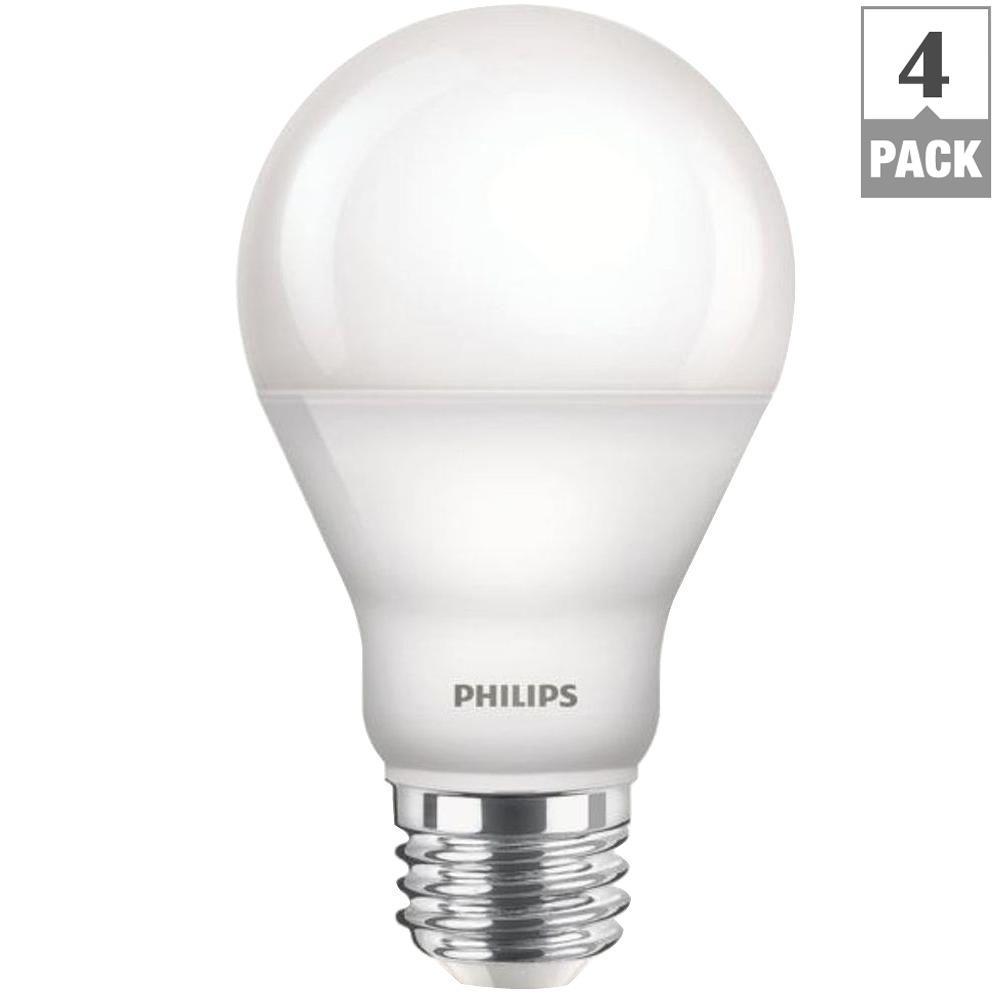 60 Watt Equivalent A19 Cri90 Dimmable Led Light Bulb Soft White 4 Pack Light Bulb