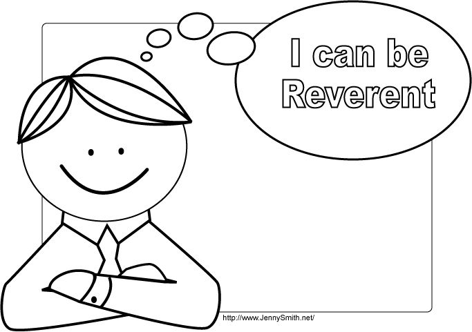 Mormon Share I Can Be Reverent Poster 3 Coloring Pages Lds
