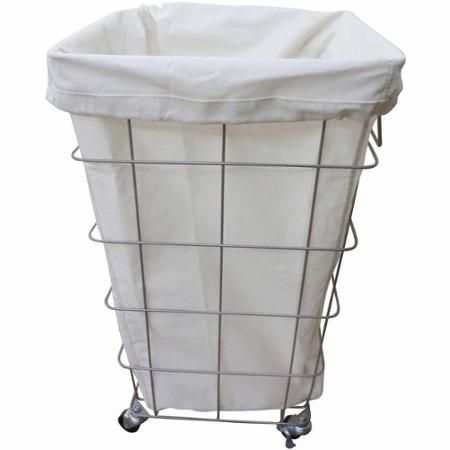 Better Homes And Gardens Square Caged Hamper Nickel White
