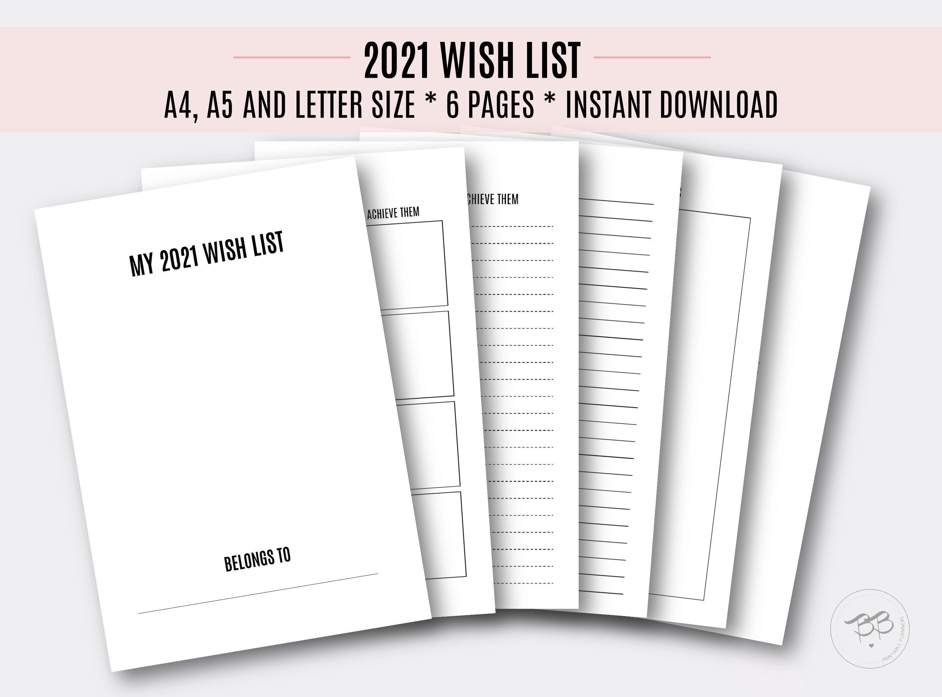 Best Way To Organize Digital Photos 2021 2021 Wish List/ A4, A5, Letter size/ Goals planning/ Life