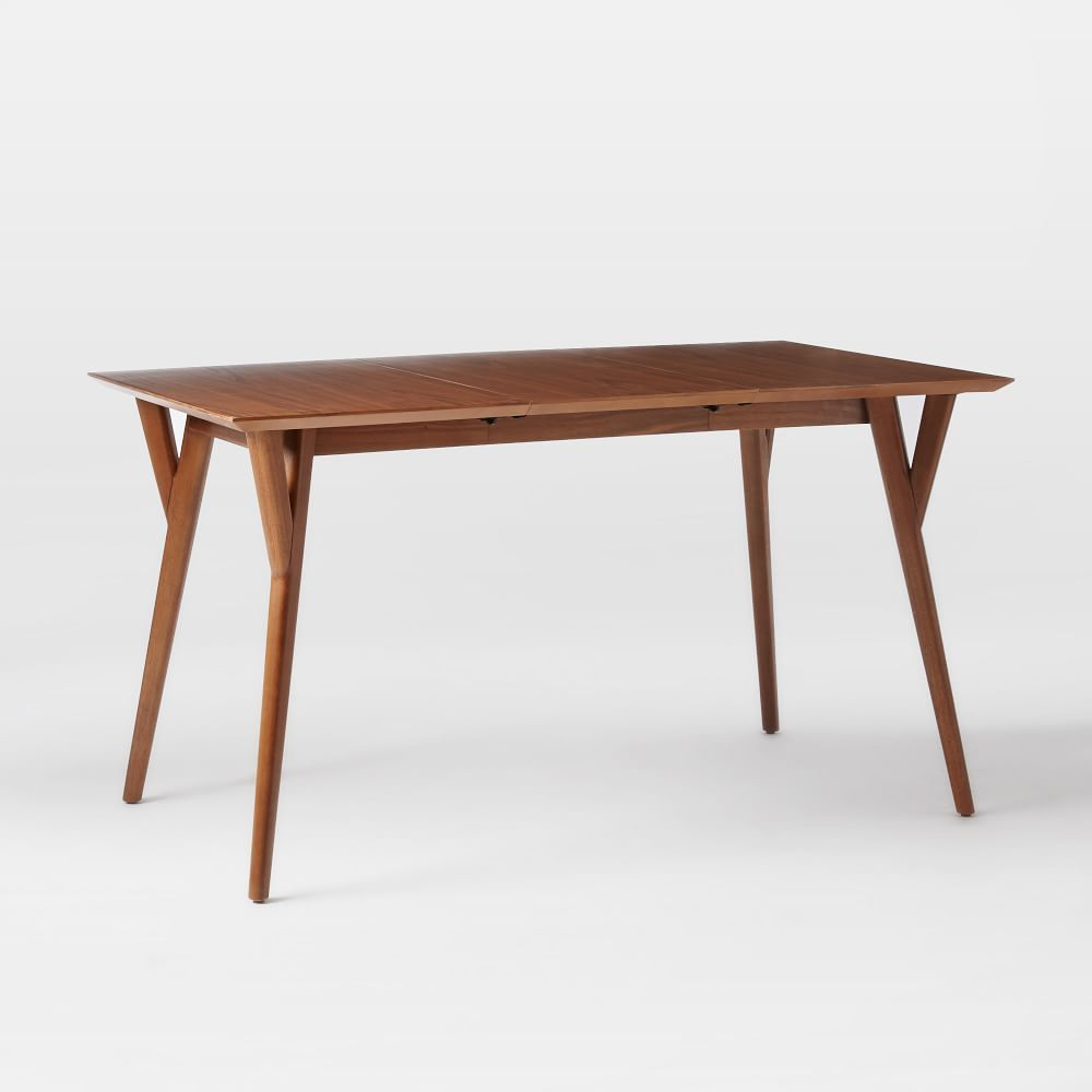 Midcentury expandable dining table mid century room and kitchens