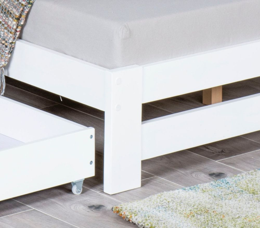 Xiamen White Wooden Bed Frame Only 4ft Small Double In 2020
