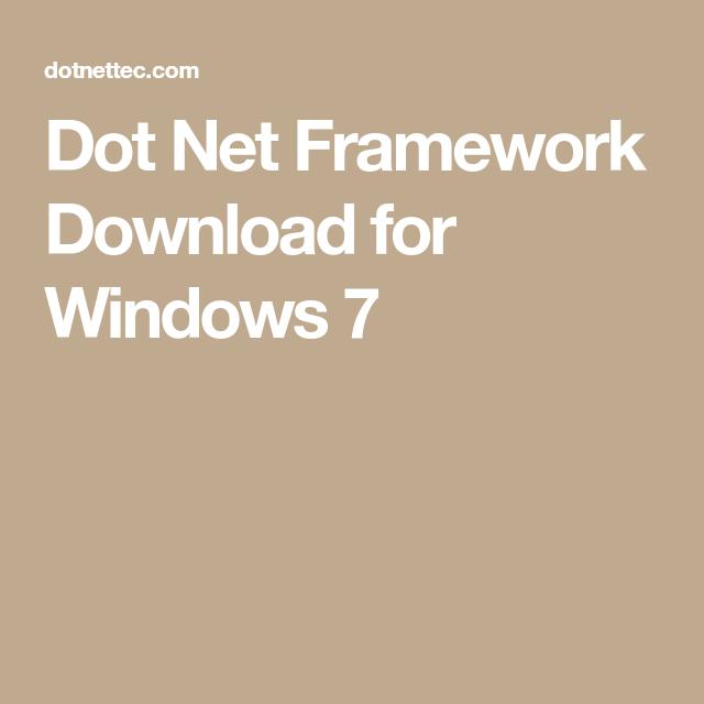Dot Net Framework Download for Windows 7   Dot Net Framework ...