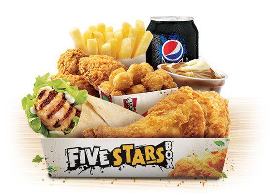 Kfc Five Stars Box Kfc Kfc Box Kfc Restaurant