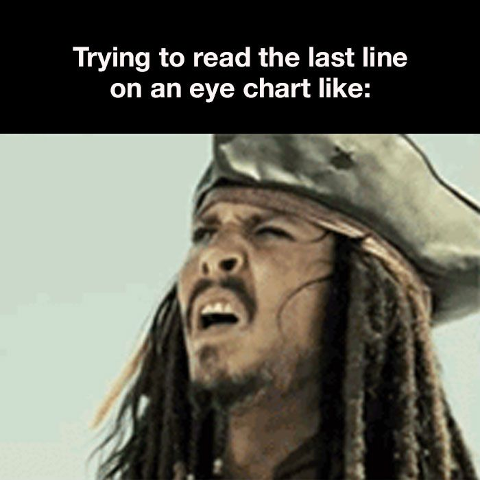 Ahoy! Have you been squinting like Jack a lot lately? It might be time for your next eye appointment!  To schedule, visit www.zeyecare.com or call 317-873-3000!
