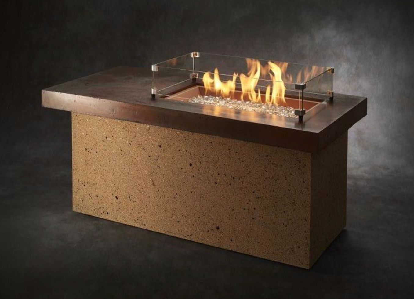 The Artisan Linear Gas Fire Pit Table Is A Gorgeous Table With A