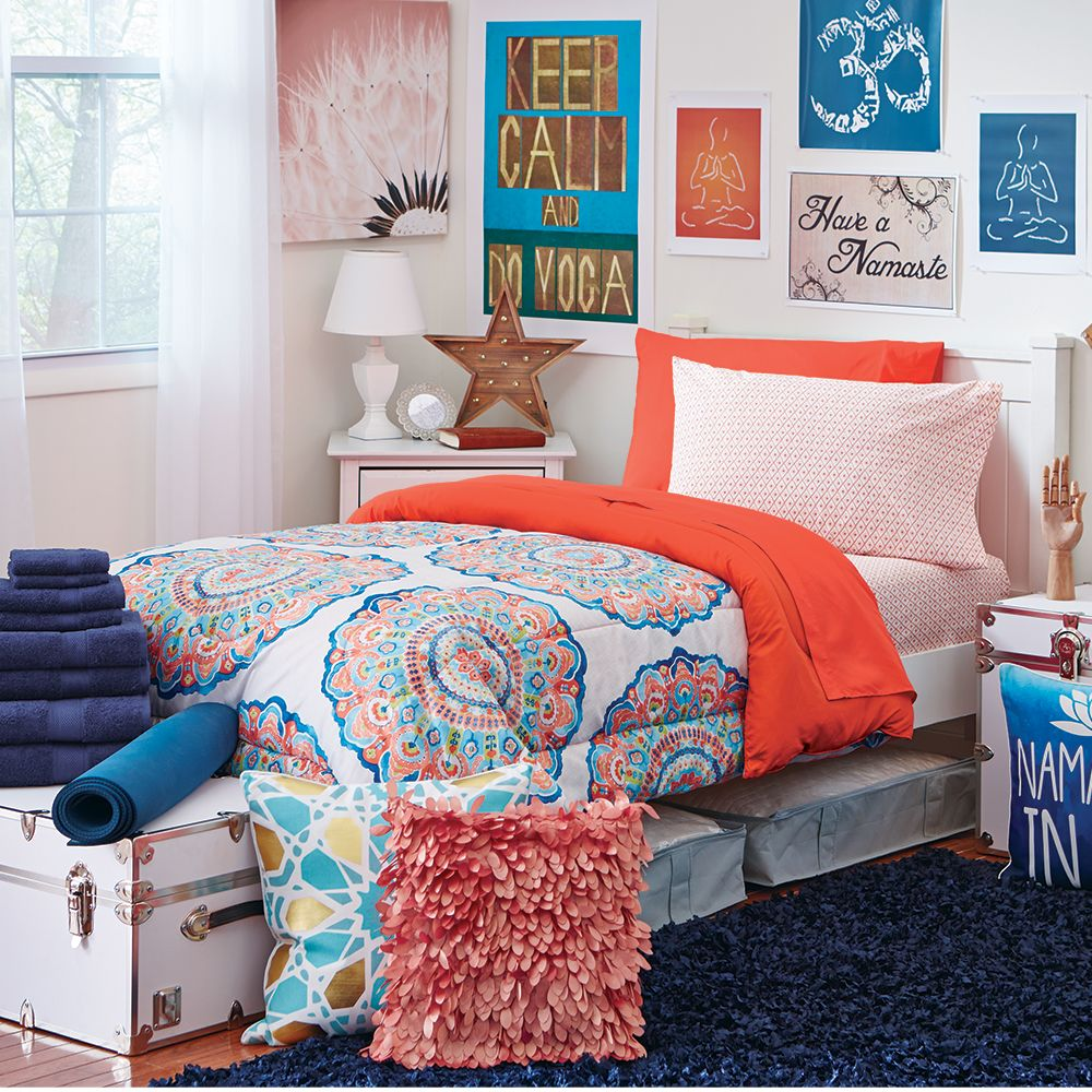 Complete Campus Pak Twin Xl Bedding And Bath Set Dorm Room Bedding Dorm Bedding Twin Xl Dorm Bedding