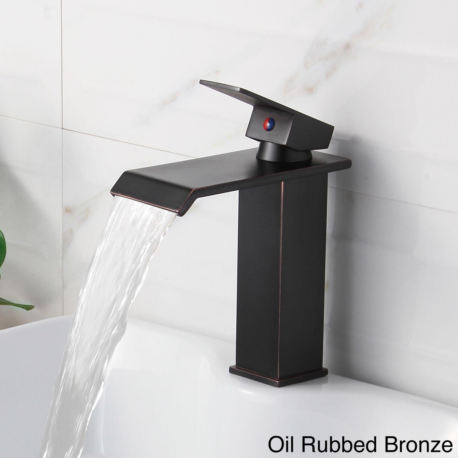 Elite 8815 Single-lever Waterfall Bathroom Sink Faucet (Chrome ...