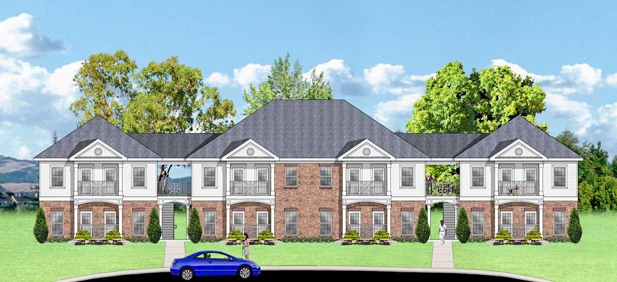 Plan 83137dc 16 Unit Multi Family Apartment Living Family Apartment Town House Plans Condo Floor Plans