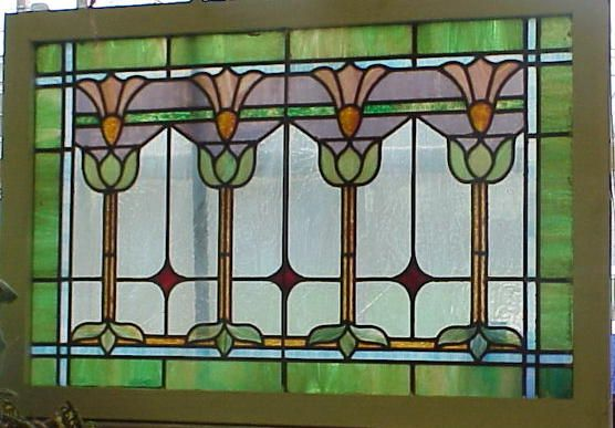 Slag Cross Section : C arts crafts leaded glass window fine stained