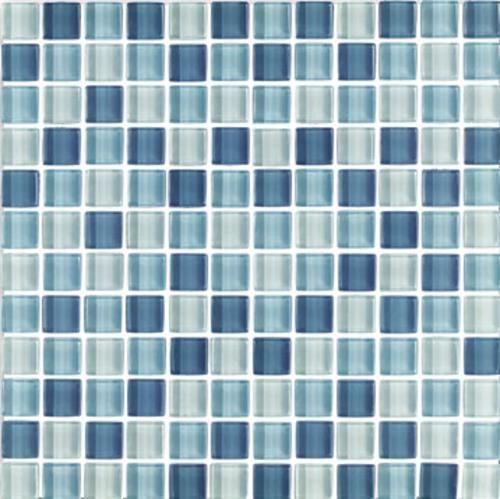 Interceramic Interglass Shimmer Blends Arctic 1 X 1 Mosaic Ceramic Mosaic Tile Glass Mosaic Tiles Mosaic Tiles