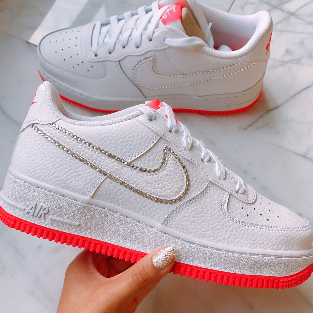 picked up fast delivery buy best Nike Shoes   Custom Made Air Force 1   Color: Pink/White   Size ...