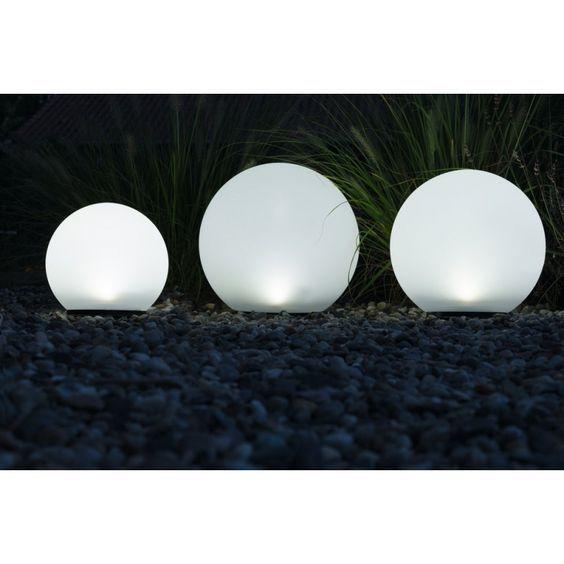 leuchtkugeln 3er set boule tolles licht ganz ohne strom solarleuchte solarkugel solarlampen. Black Bedroom Furniture Sets. Home Design Ideas