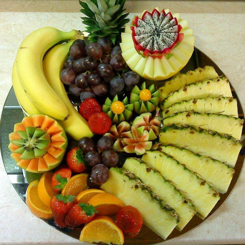 Простые и красивые нарезки из фруктов фото
