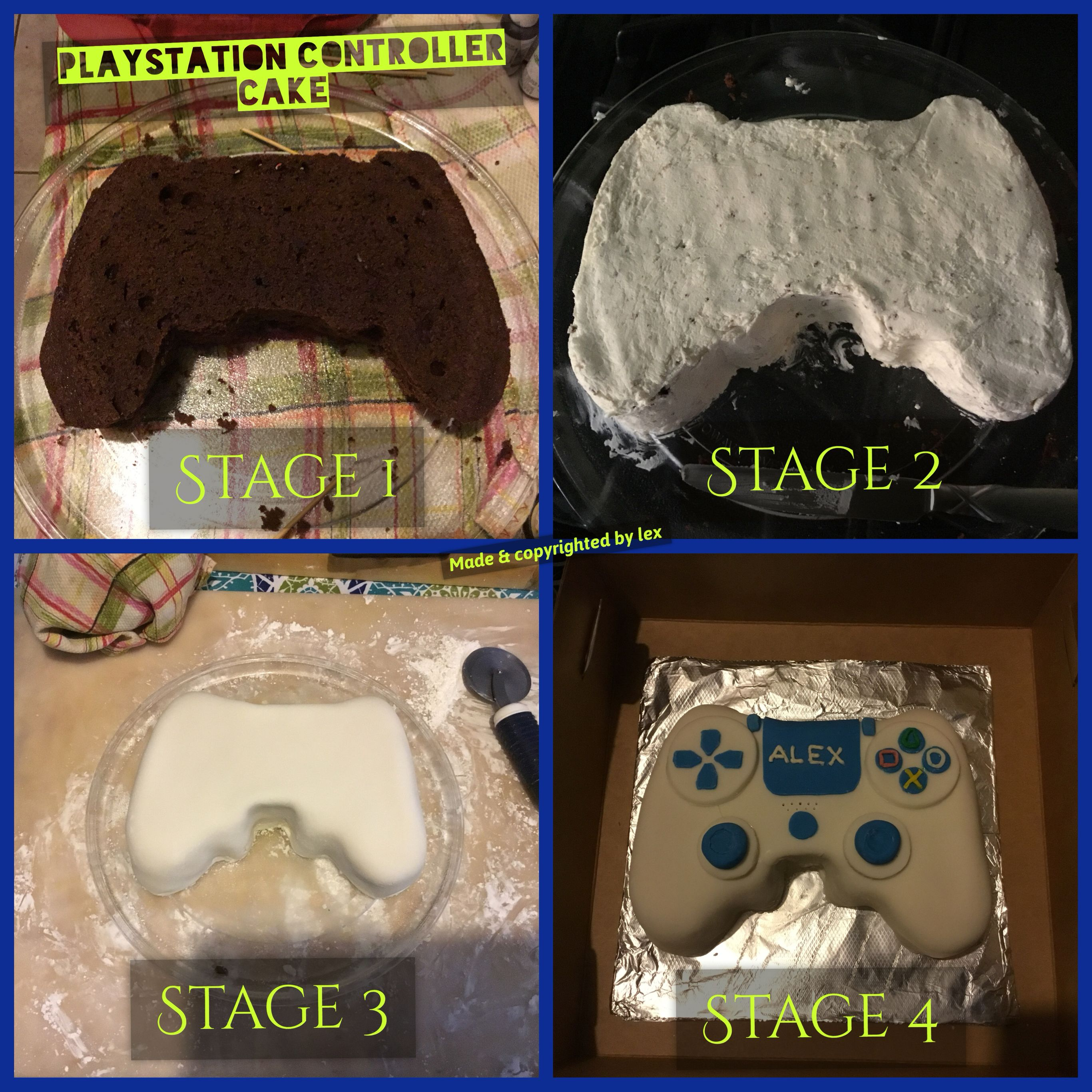 Playstation 4 Controller Cake Playstation Cake Video Game
